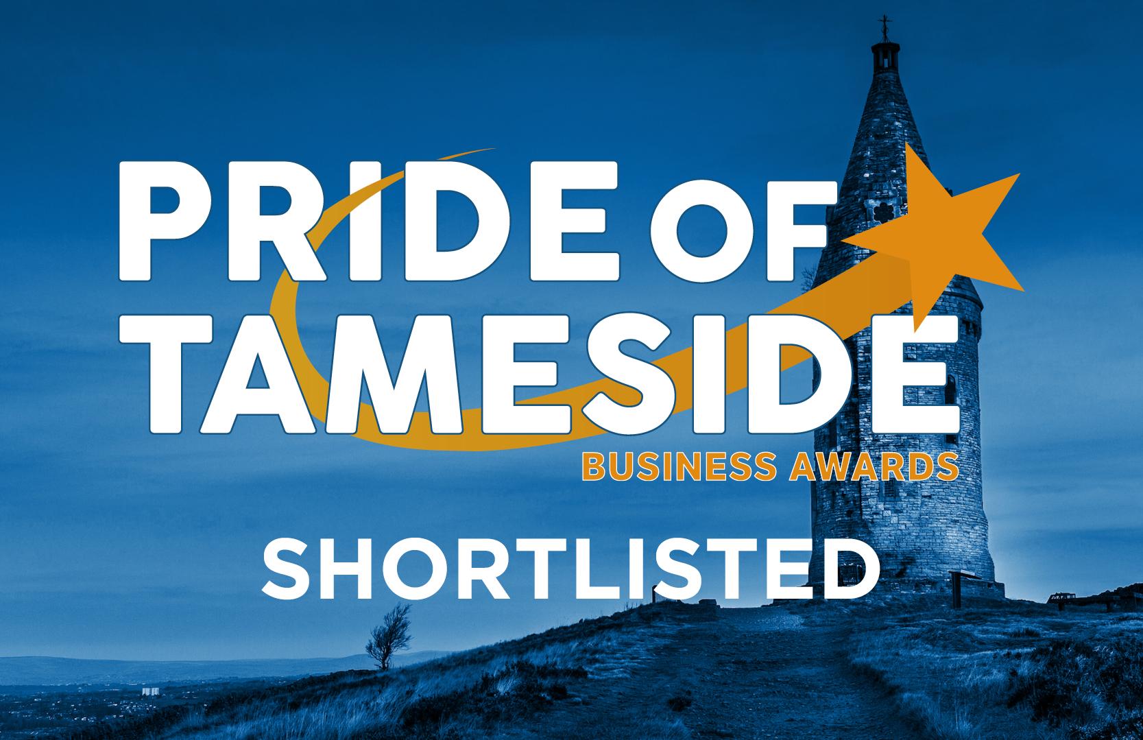 Pride of Tameside Shortlist Badge