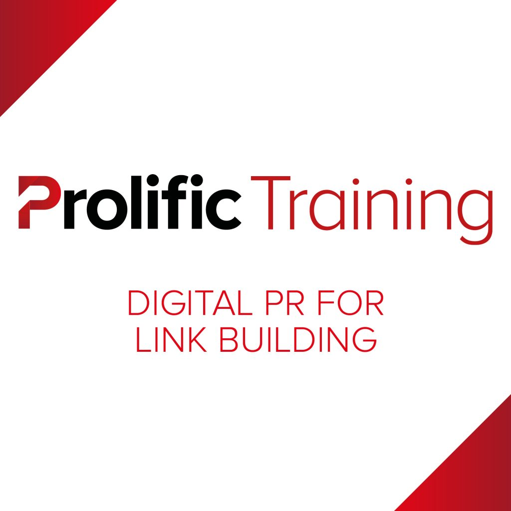 Prolific Training – Digital PR for Link Building Logo